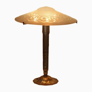 Vintage Art Deco Table Lamp by Yves Granger
