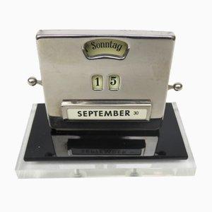Bakelite, Metal, & Plexiglas Perpetual Calendar by Jakob Maul, 1930s