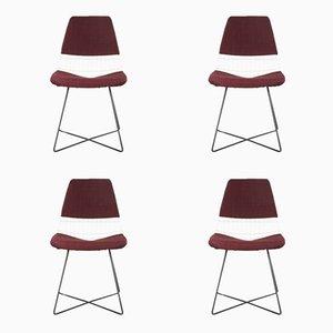 Metalldraht Esszimmerstühle von Cees Braakman für Pastoe, 1950er, 4er Set