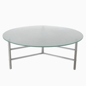 Round Glass Coffee Table, 1960s