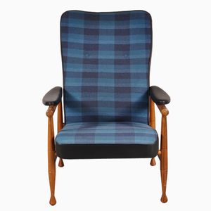 Checkered Lounge Chair from TopForm, 1960s