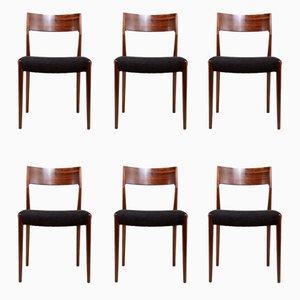 Chaises de Salon Mid-Century en Palissandre, 1960s, Set de 6