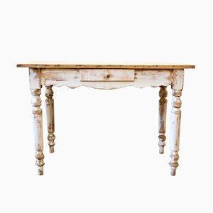 Französischer Vintage Holztisch, 1930er