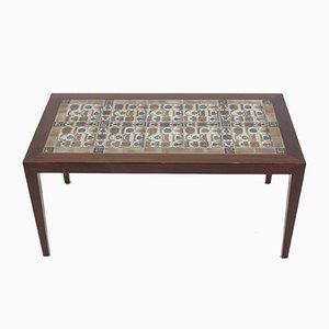 Table Basse en Teck et Céramique par Severin Hansen pour Haslev, 1960s