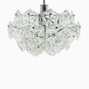 Lámpara de araña alemana de cristal de Kinkeldey, años 60
