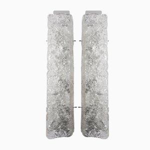 Apliques de cristal de Murano, años 60. Juego de 2