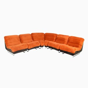 Vintage Swedish 6-Seater Modular Sofa by Rodney Kinsman for Overman, 1970s