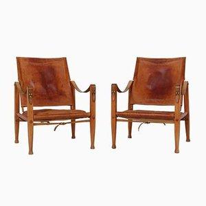 Safari Stühle von Kaare Klint für Rud Rasmussen, 1960er, 2er Set