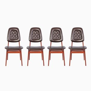 Mid-Century Norwegian Dining Chairs by Brødrene Sørheim, 1960s, Set of 4