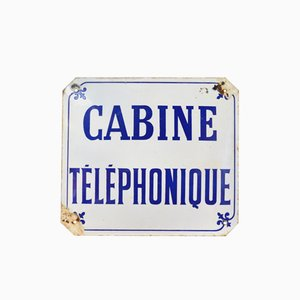Französisches Vintage Telefonzelle Schild, 1960er