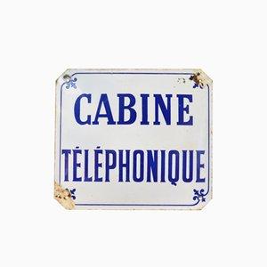 Señal de cabina telefónica francesa vintage, años 60