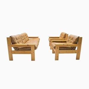 Juego de sofá y sillones, años 60