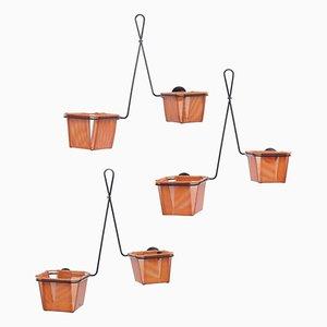 Cache-pots Modèle Chambord Vintage par Mathieu Matégot, Set de 3