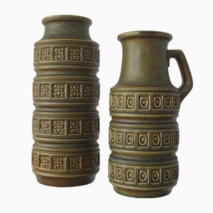 West Deutsche Vintage Vasen von Scheurich, 1960er, 2er Set