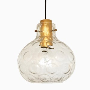 Bubble Glass Pendant Lamp from Limburg, 1960s