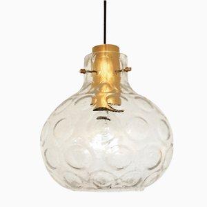 Lámpara colgante de cristal burbuja de Limburg, años 60