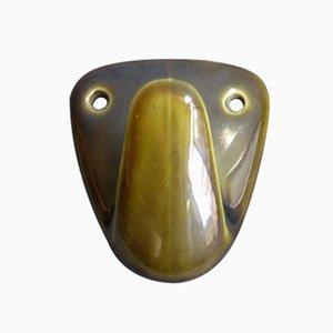 Gancho Mid-Century de cerámica verde