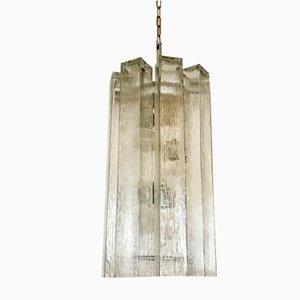 Große Glas Hängelampe von Doria, 1960er
