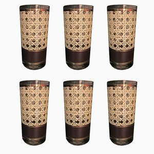 Bicchieri vintage di Georges Briards, Stati Uniti, anni '60, set di 6