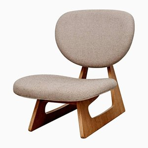Japanese Lounge Chair by Junzo Sakakura for Tendo, 1950s