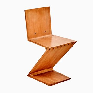 Vintage Zig-Zag Chair by Gerrit Rietveld for Metz & Co