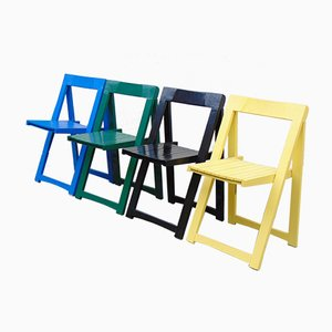 Vintage Folding Chairs by Aldo Jacober for Alberto Bazzani, Set of 4