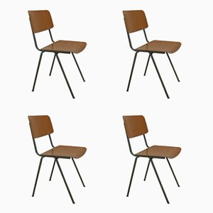 Vintage Steel and Plywood Chairs from Marko, 1960s, Set of 4