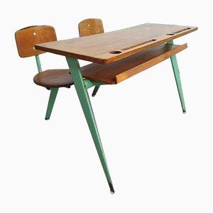 Model 850 Two-Seater School Desk by Jean Prouvé for Ateliers Prouve Nancy, 1952