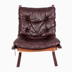 Mid-Century Siesta Leder Sessel von Ingmar Relling für Westnofa