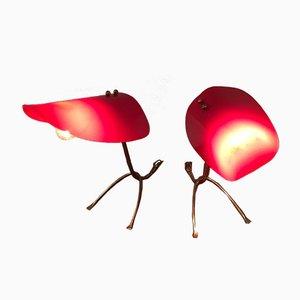 Lampes de Bureau ou Appliques Murales Vintage de Kalmar, Set de 2