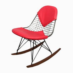 Sedia a dondolo RKR vintage di Charles & Ray Eames per Herman Miller