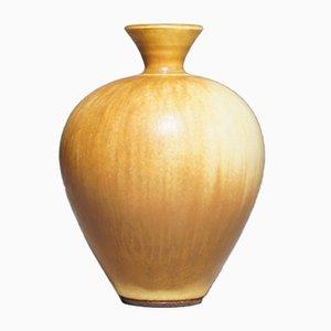 Steingut & Harefur Glasierte Vase von Berndt Friberg für Gustavsberg, 1965