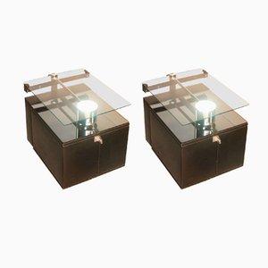 Tables de Chevet Minimalistes, 1970s, Set de 2