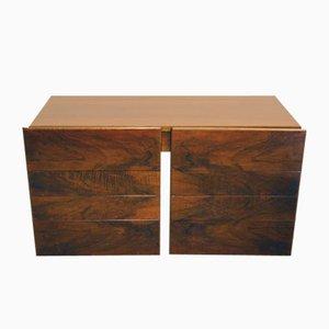 Mueble modular de palisandro con cajones, años 70