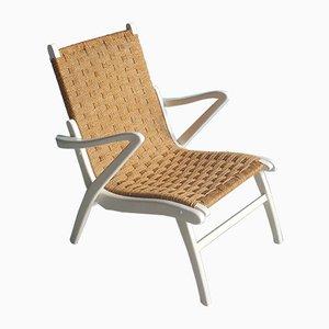 Stuhl aus Holz und Seil, 1940er