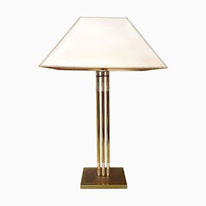 Vintage Brass Table Lamp by Lusterie DeKnudt
