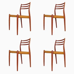 Vintage Model 78 Teak Chairs by Niels Otto Moller, Set of 4