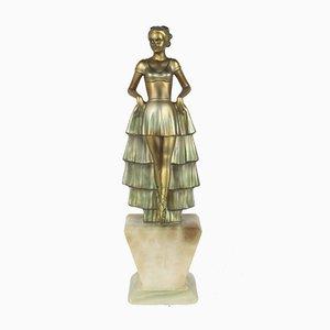 Gegossene Art Deco Figur von Josef Lorenzl, 1930er