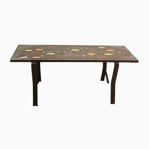 Vallauris Ceramic Table, 1950s