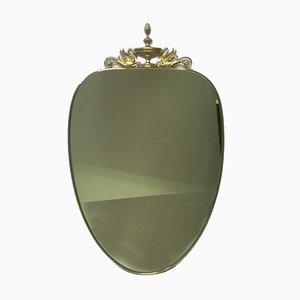 Espejo italiano de latón, años 50