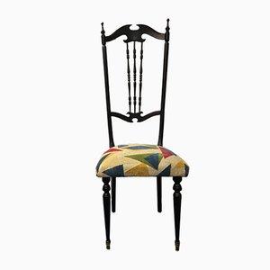 Schwarzer Vintage Chiavari Stuhl