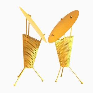 Lampade da tavolo di Jacques Biny, anni '50, set di 2
