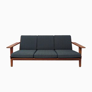 Three-Seater Teak GE 290 Sofa by Hans Wegner for Getama, 1960s