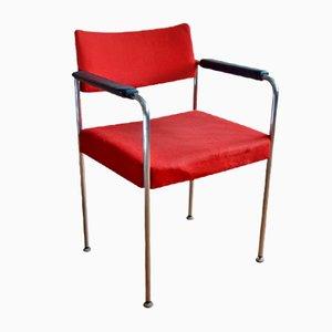 Sedia con fodera rossa di Stoll Giroflex, anni '70