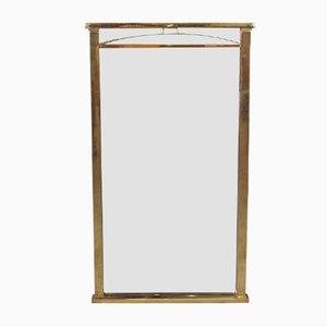 Specchio con cornice in ottone, anni '70