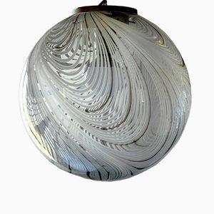 Lampada a sospensione grande in vetro di Murano, anni '60