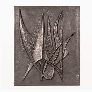 Cortafuego francés brutalista vintage de hierro fundido