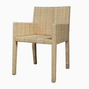 Woven Rattan Armchair by Jean Michel Frank and A. Chanaux for Ecart International, 1930s