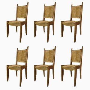 Vintage Chairs by Guillerme et Chambron for Votre Maison, Set of 6