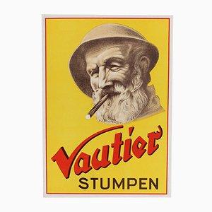Póster alemán vintage de la marca Vautier